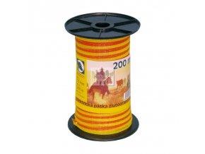 Elektr. páska žlutooranžová 10mm/200m